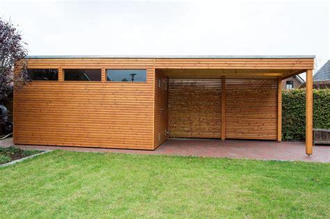gartenhaus mit schuppen design gartenhaus mit vordach aus l 228 rchenholz mit flachdach rhombusschalung gartenhaus