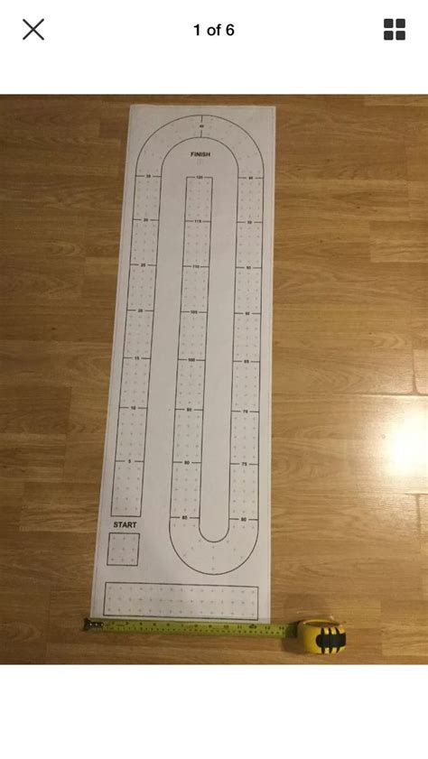 Cribbage Board Template Large Cribbage Board Paper Template Is 13 1 4 Quot X 44 1 4