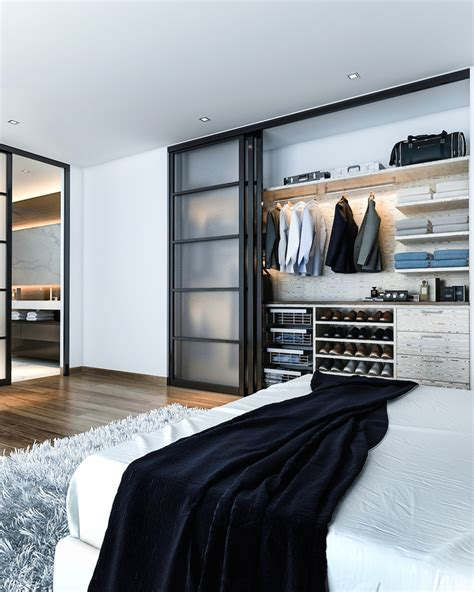 shoe shelves  closet entry modern  interior design