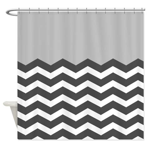 grey black white chevron shower curtain by inspirationzstore