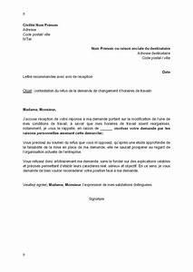 Modèle Changement D Adresse : lettre de contestation par le salari du refus de changement de ses horaires de travail ~ Gottalentnigeria.com Avis de Voitures