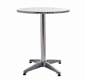 Table Haute 110 Cm : table haute de bar r ception 60cm mange debout en aluminium h 70 ou 110 cm bc ~ Teatrodelosmanantiales.com Idées de Décoration