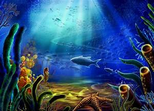 Sea Aquarium, blue, coral, fish, Ocean, plants, rays, sea ...