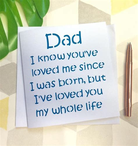 Fathers Day Card Dad  Ee  Birthday Ee   Fathers Day Dad Card