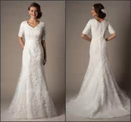 modest lace wedding dresses modest custom 2015 a line wedding dresses winter bridal gown v neck with 1 2 half sleeves lace