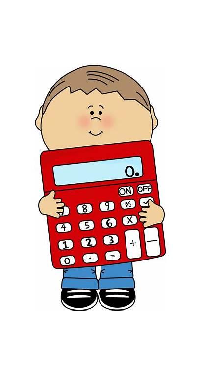 Calculator Kid Holding Math Clip Graphics Mycutegraphics