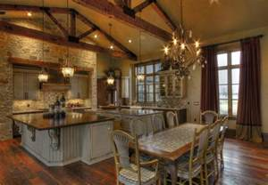 ranch style home interior ranch home rustic kitchen houston by sweetlake interior design llc