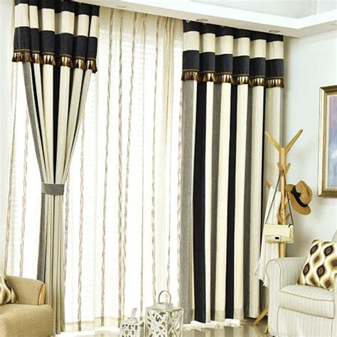 navy white and gray vertical striped contemporary thermal