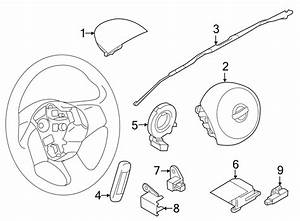 2014 Nissan Versa Note Air Bag Clockspring  Wire Assembly
