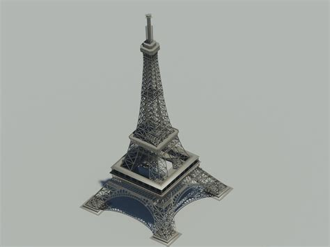 Eiffel Tower Model By Billstillonfire On Deviantart