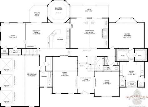 floorplans for homes rutherford plans information southland log homes