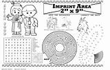 Restaurant Placemat Coloring Asian Imprintable Colorable Books sketch template