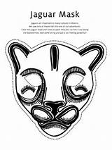 Mask Coloring Jaguar Pages Masks African Printable Animal Totem Mayan Pole Template Drawing Wolf Templates Mexico Teacollection Mardi Gras Masker sketch template