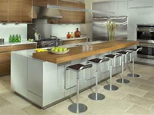 inspirations 5 cuisines avec table integree joli place With idee deco cuisine avec cuisine Équipée avec table intégrée