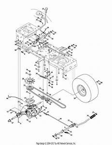 Troy Bilt 13wx79kt011 Horse  2012  Parts Diagram For Drive  U0026 Rear Wheels