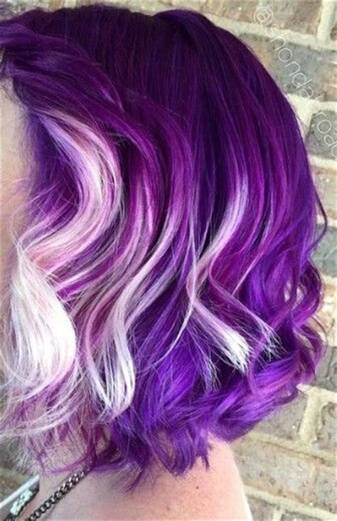 Color Hairstyles For Hair by Purple And White Hair Pictures Photos And Images For
