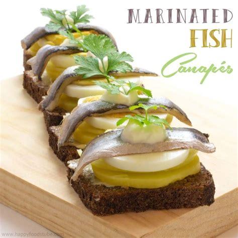 balance cuisine marinated fish canapés foods