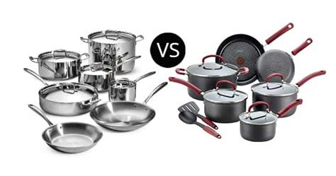 stainless steel  hard anodized cookware meal prepify