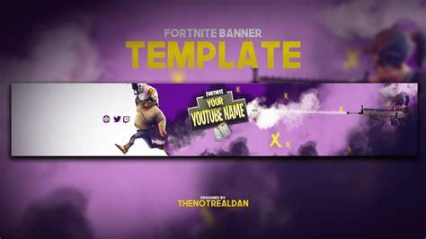 fortnite youtube banner template  white youtube