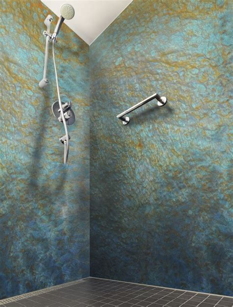 shower walls built  epoxy poured  panels