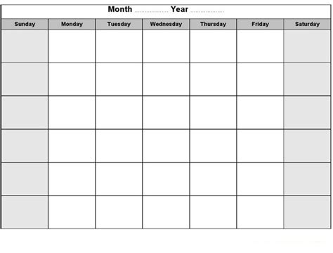 Blank Activity Calendar Template by 66 Best Images About Calendar Template Printable On