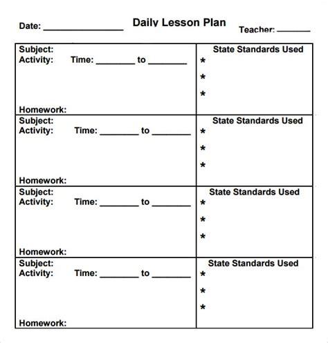 preschool lesson plan template 10 free 395 | Lesson Plan for Kindergarten