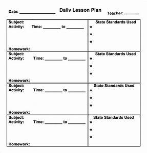 preschool lesson plan template 7 download free With daily lesson plan template for kindergarten