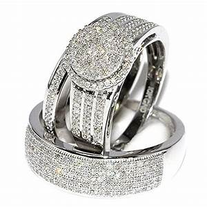 Awful of his and hers wedding ring sets white gold for Wedding bands and engagement ring sets