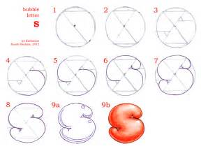 how to draw bubble letters 2