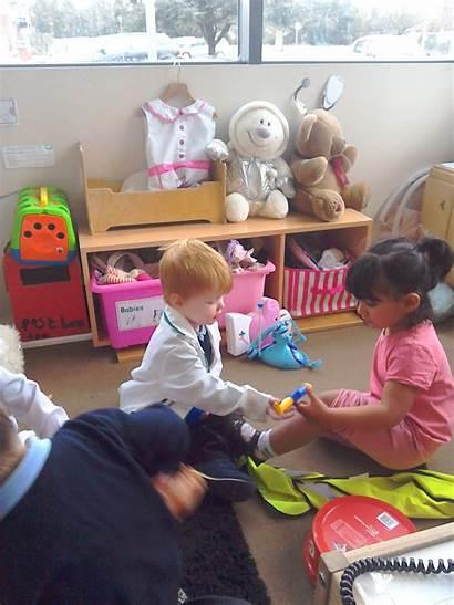 Hospital Role Play Children Having Fun Nursery