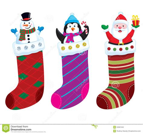 cartoon christmas stocking festival collections