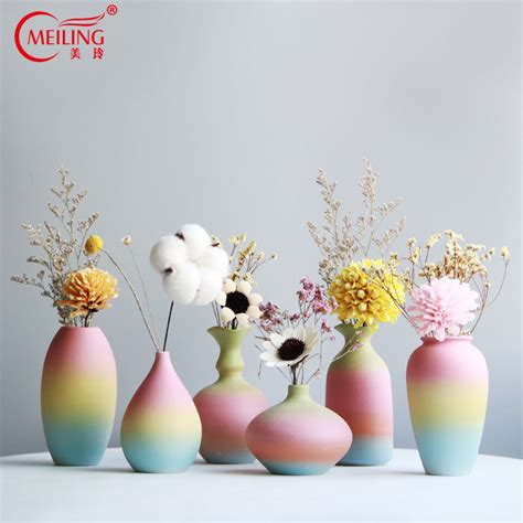 Colorful Decorative Vases by Creative Colorful Rainbow Decorative Flower Vases Small