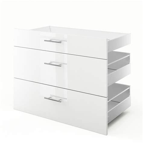 meuble cuisine largeur 55 cm 3 tiroirs de cuisine blanc 3d90 l90xh70xp55 cm