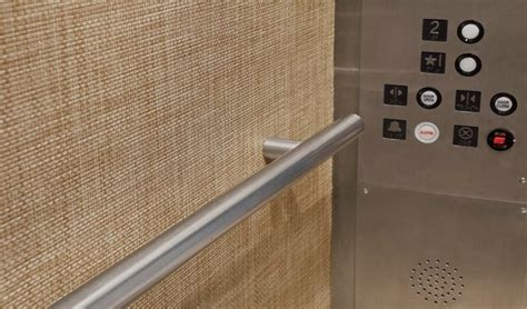 chilewich   store design  elevator wallcovering