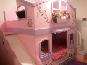 My girls bunkbeds - two double size beds with Slide ...