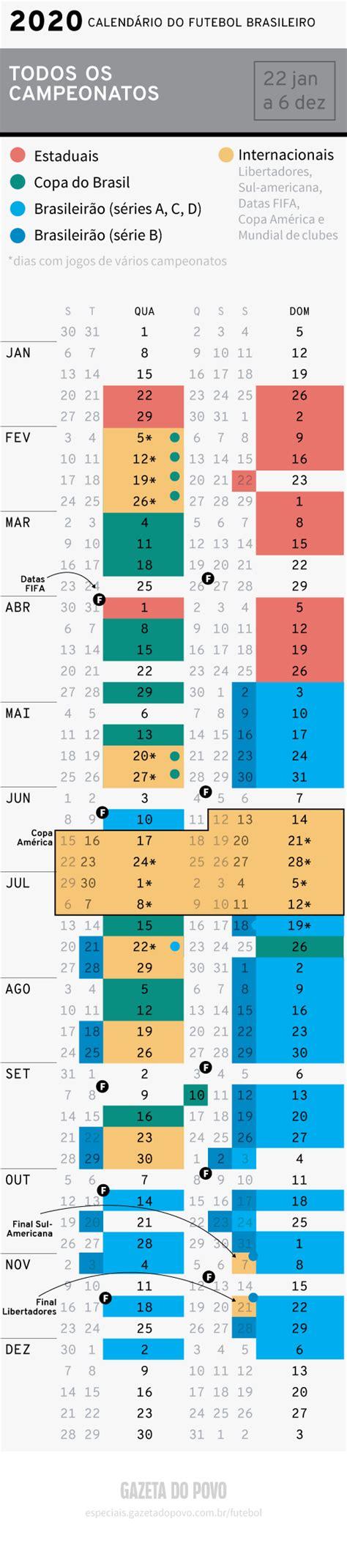 calendario futebol brasileiro futebol