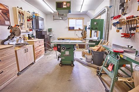 michaels garage workshop  wood whisperer
