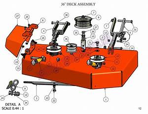 2009 Zt 36 Deck Assembly