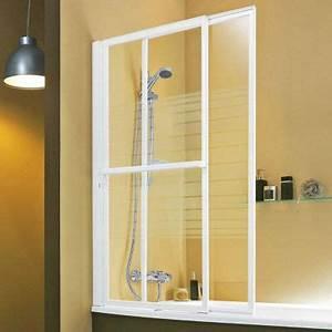 Pare Douche Pour Baignoire : pare baignoire relevable iode castorama ~ Premium-room.com Idées de Décoration