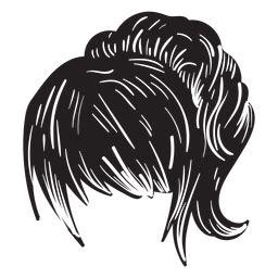 Coffee messy bun legging mom svg cut files. Double braids hair silhouette - Transparent PNG & SVG ...