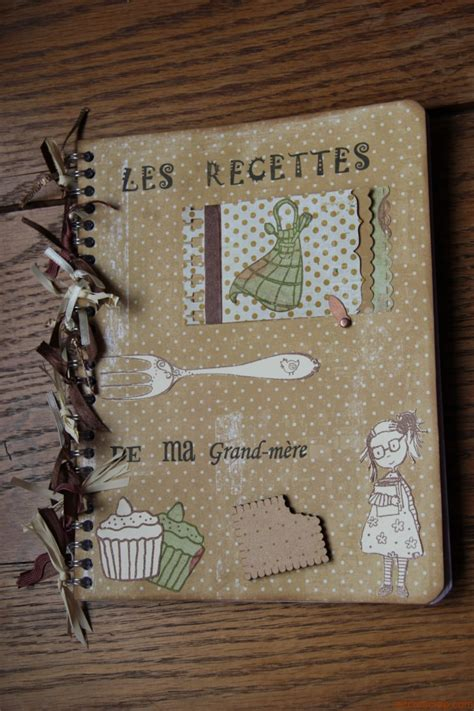 carnet de cuisine vierge cahier de recettes scrap