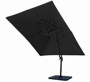 Parasol Déporté Carré : toile de parasol d port salond t noir 3x3 m 54 salon d 39 t ~ Mglfilm.com Idées de Décoration