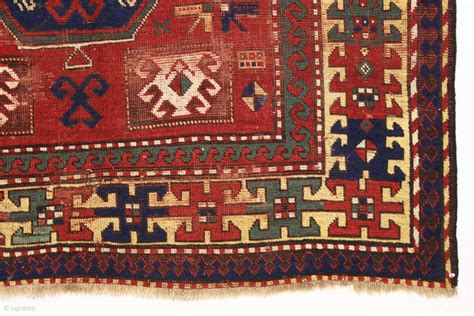 Antique Large Kazak Rug With Some Interesting Design