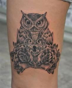 Tatouage Chouette Signification : tatouage hibou chouette 01 inkage ~ Melissatoandfro.com Idées de Décoration