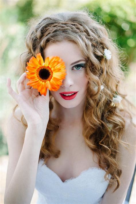 whimsical wedding hairstyle ideas  long hair