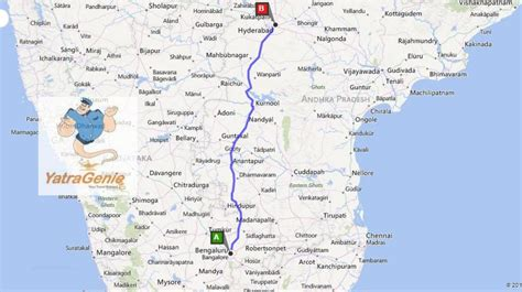 hyderabad  bangalore route map road map  hyderabad