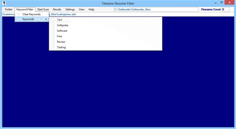 tekware resume filter