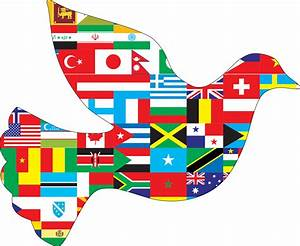 Clipart - International Peace Dove With Stroke
