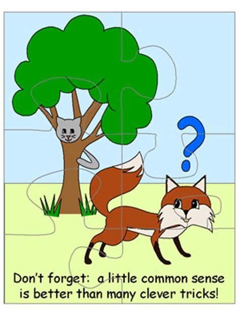 fox   cat printable jigsaw puzzle
