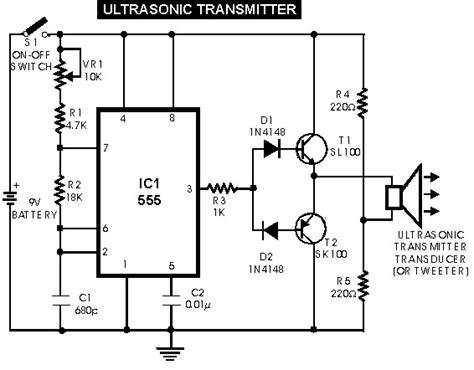 Ultrasonic Sensor Switch Electronic Schematic Diagram